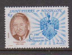 St Pierre & Miquelon 1989 Landry Bank Anniversary Single MNH - St.Pierre & Miquelon