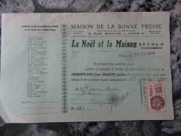 Le  Noel Et La Maison  Maison De La Bonne Presse Paris 1930 - Imprimerie & Papeterie