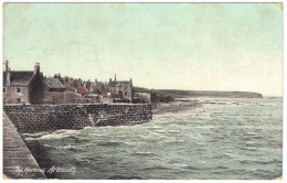The Harbour, Arbroath - The Wrench Series Postmark 1915 - Angus