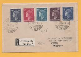 Luxemburg - Einschreiben Von Luxemburg Nach Jette Belgien Vom 15.12.1948 FDC - Charlotte - Brieven En Documenten