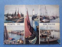 29-PORTS DE BRETAGNE Bateaus De Peche , Circulée En 1961 , 2 Scans - Other Municipalities
