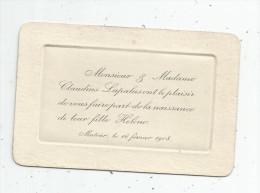 Faire Part De Naissance , MATOUR , 71 , Saone Et Loire , 1908 - Naissance & Baptême
