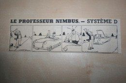 Dessin Extrait Revue 1960 Professeur Nimbus Auto-stop - Documentos Históricos