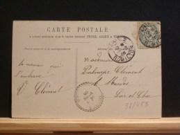 58/455    CP   1905   CACHET PERLE  1905  MUIDES SUR LOIRE - Marcofilie (Brieven)