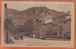 Carte Postale 01. Lagnieu  Place De La Liberté  Trés Beau Plan - Autres Communes