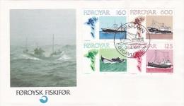Faroe Islands FDC 1977 Fishing Ships (G82-26) - Boten
