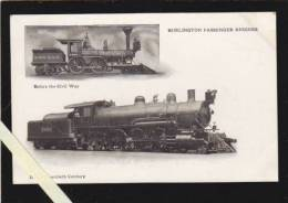 Etats Unis Amerique - Vermont - Burlington Passenger Engines - Before The Civil War / In The Twentieth Century - Burlington