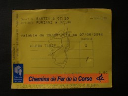 BIGLIETTO NAVE NIZZA NICE (FRANCIA) BASTIA  (CORSICA) - Inschepingsbiljetten