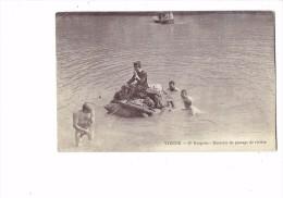 """38 - VIENNE - """" 17e Dragons """" - Exercice De Passage De Rivière"""" - Soldat Radeau Garçon Mi-nu Tenue Bain 1913 - MILITARIA - Vienne"""