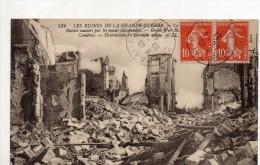 Cambrai Les Ruines De La Grande Guerre Ruines Causees Par Les Mines Allemandes - Cambrai