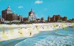 New Jersey Atlantic City The Famous Beach And Central Skyline