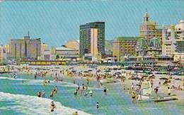 New Jersey Atlantic City Famous Beach And Skyline 1971