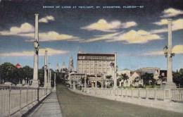 Florida Saint Augustine Bridge Of Lions At Twilight
