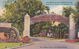 Florida Saint Augustine San Marco Avenue Entrance To The Fountai