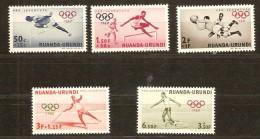 Ruanda-Urundi 1960 OCBn° 219-223 *** MNH Cote 4,75 Euro Sport - 1948-61: Nuevos