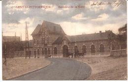 GENVAL-Pittoresque EXTERIEUR De La Gare Feldpost Wavre  1915 état!!  R 977 - Rixensart