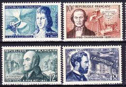 FRANCE 1955 YT N° 1012 à 1015 * - Unused Stamps