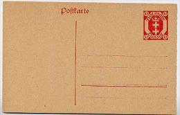 DANZIG  P12 Postkarte ** 1921 Kat. 8,00 € - Danzig