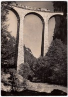 LANDWASSER - VIADUCT DER RHATISCHEN BAHN BEI FILISUR - STRECHE CHUR-ENGADIN - 1953 - TRENI - GR Grisons