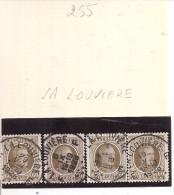 N°  255   Obliteration Central  De  LA LOUVIERE - 1922-1927 Houyoux