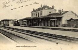 51 BLESME HAUSSIGNEMONT La Gare TRAIN  Précurseur 1904 2 Scans - Autres Communes