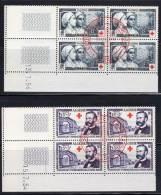 ALGERIE  - 1954 -  N° 316/7  Obl  (BLOC De 4  Coin Daté ) CROIX ROUGE - Algérie (1924-1962)