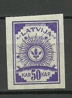 LETTLAND Latvia 1919 Michel 13 C MNH - Lettonie