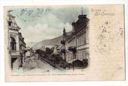 GRUSS AUS ALT OSSEGG, GESCHAFTS UND BEAMTENWOHNUNGEN DER BOHRUNTERNEHMUNG JULIUS THIELE 1901   2 SCAN - Tschechische Republik