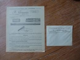 MITRAILLEUSES DE CHASSE CROMARIAS ROYAT PUBLICITE ET ENVELOPPE - Publicités