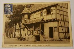 C.P.A. (67) Scherwiller--Maison Renaissance (corps De Garde) Animée 1950 - Altri Comuni