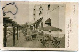 - CADIZ - GRAN HÖTEL ATLANTICO - Terraza Del Comedor, Timbres Surchargé, écrite, épaisse, BE, Scans. - Cádiz