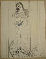 Dessin Au Crayon 1951 -jeune Femme (2) - Drawings