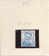 N° 2963   Obliteration Central  De  CINEY - Oblitérés