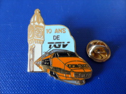 Pin´s SNCF - TGV - 10 Ans De Tgv - Horloge De La Gare De Lyon - Zamac Ballard (QB54) - TGV