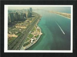 United Arab Emirates UAE Abu Dhabi Picture Postcard Aerial View Abu Dhabi View Card - Dubai