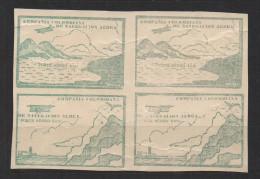 A433.-. KOLUMBIEN / COLOMBIA.-.1920.  MI #: 11,12. MINT BLOCK-CCNA- COMPAÑIA COLOMBIANA DE NAVEGACION AEREA CV € : - Colombia