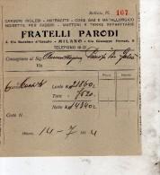 1914 MILANO - FRATELLI PARODI CARBONI INGLESI - Italia
