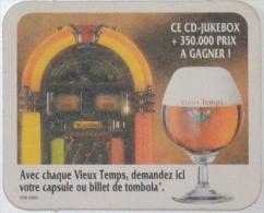 Sous-bock VIEUX-TEMPS Cd Jukebox Tombola Jukebox 1991 Bierdeckel Beermat Bierviltje (N) - Sous-bocks
