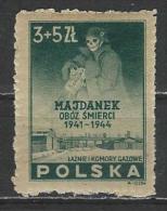 Poland. Scott # B 45 MLH. Majdanek Prison. 1946 - 1944-.... Republic
