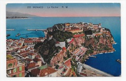 MONACO - N° 218 - LE ROCHER - CPA VOYAGEE - Other