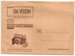 KODAK FILM - Enveloppe Publicitaire EM. VERDIN Rue Des Clarisses, 27-29 LIEGE Tél. 233426 - Fotografie En Filmapparatuur
