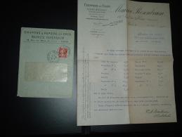 LETTRE TP SEMEUSE 10c OBL.13-6-10 PARIS 70 + MAURICE ROSENBAUM CHIFFONS & PAPIERS EN GROS - Poststempel (Briefe)