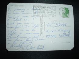 CP TP LIBERTE DE GANDON 1,70 OBL.MEC. VARIETE 15-9-1984 BANYULS SUR MER (66 PYRENEES ORIENTALES) - 1982-90 Liberty Of Gandon