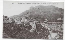 MONACO EN 1928 - N° 1352 - VUE SUR LE PALAIS DU PRINCE - LA TETE DE CHIEN ET LA CONDAMINE - CPA  VOYAGEE - La Condamine