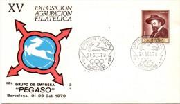 BARCELONA  AGRUPACION FILATELICA 1970 PEGASO    (F160077) - Esposizioni Universali