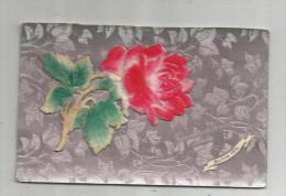 Cp , Velours , Fleur , Souvenir De Bonne Amitié , Bonne Fête , Voyagée 1908 - Cartes Postales