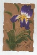 Cp , Velours Sur Bois , Illustrateur , Gauffrée ,  , Voyagée 1907 - Cartes Postales