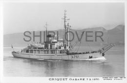 Gabare CRIQUET (Marine Nationale) - Carte Photo éd. Marius Bar - Bateau/ship/schiff - Oorlog