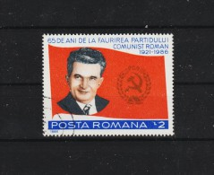 1986 - 65 Anniv. Parti Communiste / CEAUSESCU  Mi 4259 Et Yv 3670 - 1948-.... Republiken