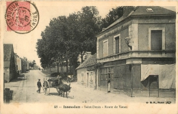 ISSOUDUN SAINT DENIS ROUTE DE VATAN AVEC ATTELAGE EDITION B.F. - Issoudun